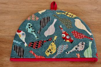 Birds In Teal Tea Cosy