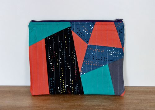 A Dorset Patchworks Bits and Bobs Quilted Pouch (City Lights)(2)