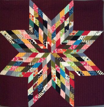 Scrappy Lone Star Quilted Wall Hanging