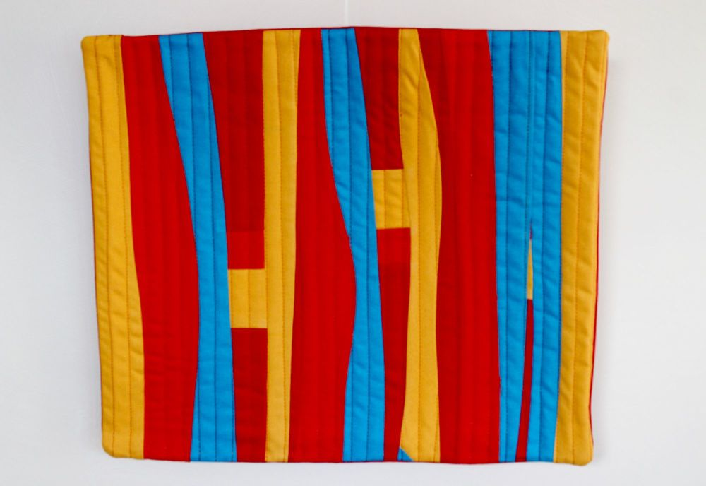 The Colour of Flames Quilted Wall Hanging (1)