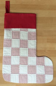 Stars Quilted Patchwork Christmas Stocking