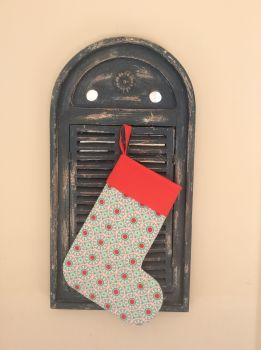 Ardently Austen  Quilted Christmas Stocking