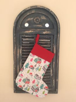 Christmas Dreams Quilted Christmas Stocking