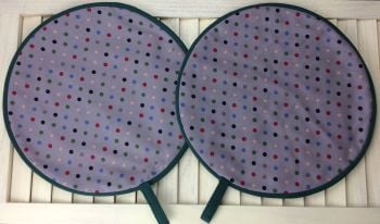 Pair of Polka Dot Aga Pads