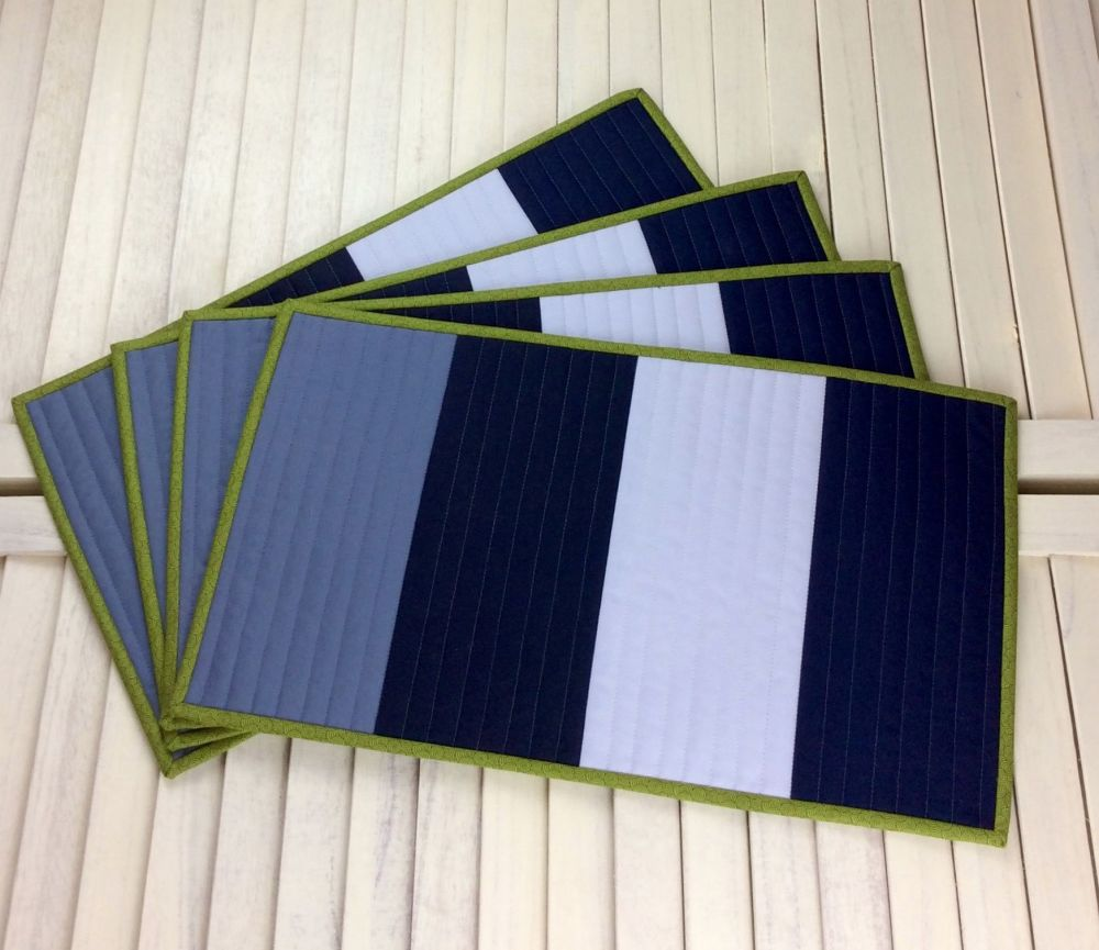 Set of Four Make It Simpler Quilted Place Mats