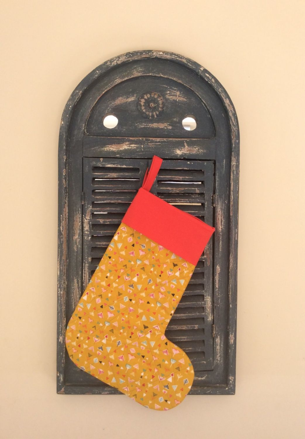 Nature Trail Quilted Christmas Stocking