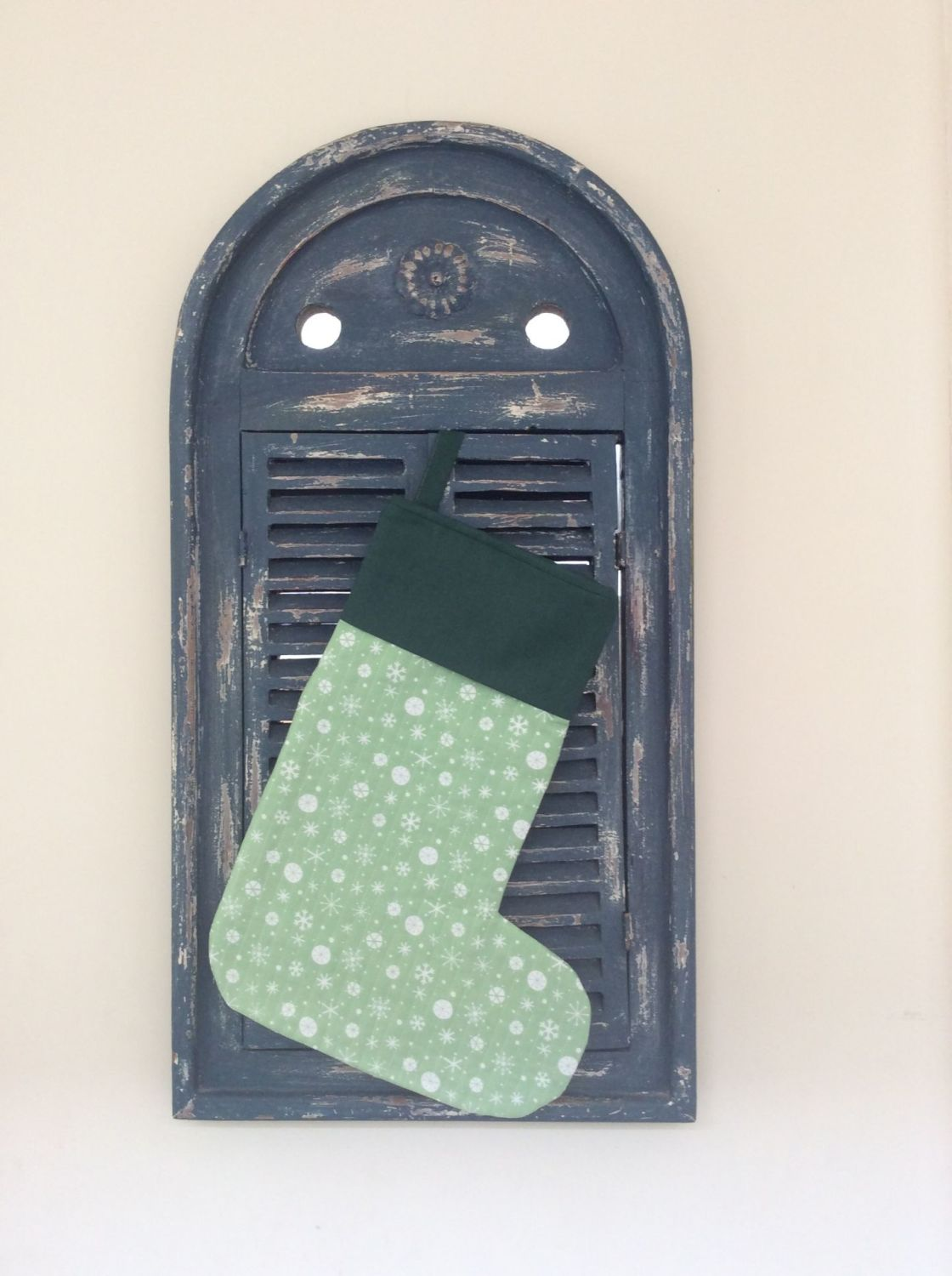 Christmas Wish Quilted Christmas Stocking (with Green Cuff)