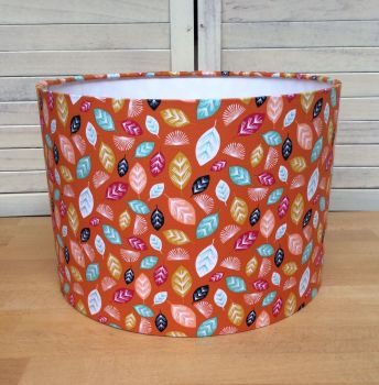 Nature Trail Rust 30 cms Drum Lampshade