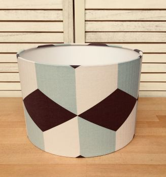 Mint and Chocolate 30 cms Drum Lampshade