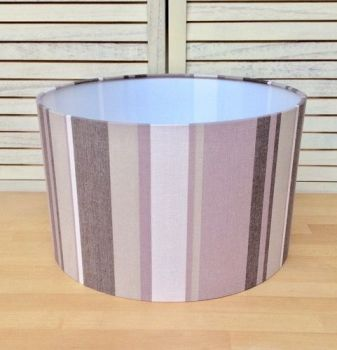 Stripy 40 cms Drum Lampshade