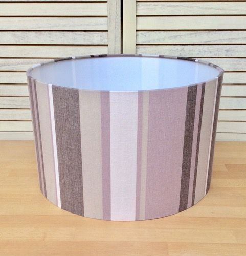 Stripy 40 cms Drum Lampshade