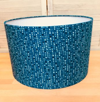 New Horizons (Teal) 40 cms Drum Lampshade