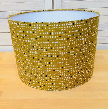 New Horizons (Olive) 30 cms Drum Lampshade