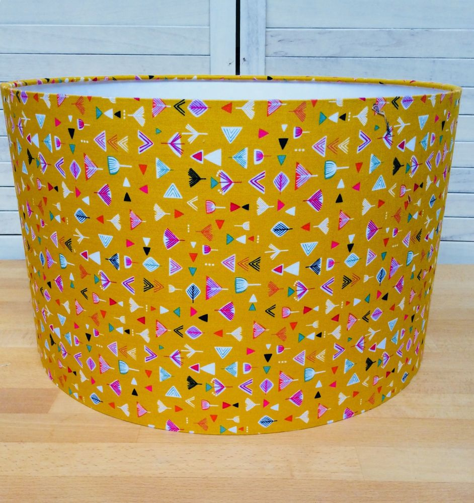 Nature Trail Gold 30 cms Drum Lampshade