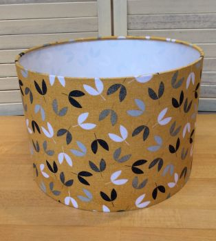 Bird Song Scattered Seeds 30 cms Drum Lampshade