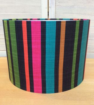 Marine Stripes 30 cms Drum Lampshade