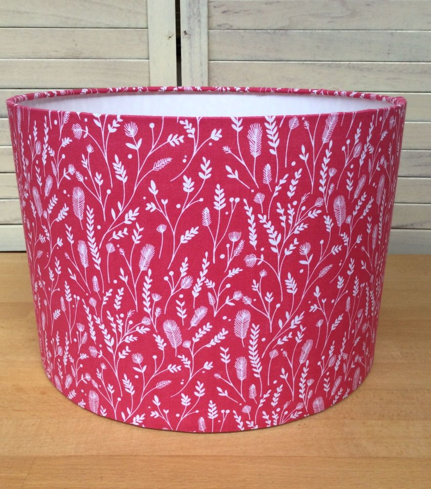 Cuckoo's Calling Pink 30 cms Drum Lampshade