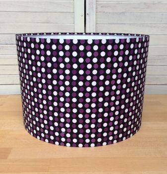 Polka Dot 30 cms Drum Lampshade