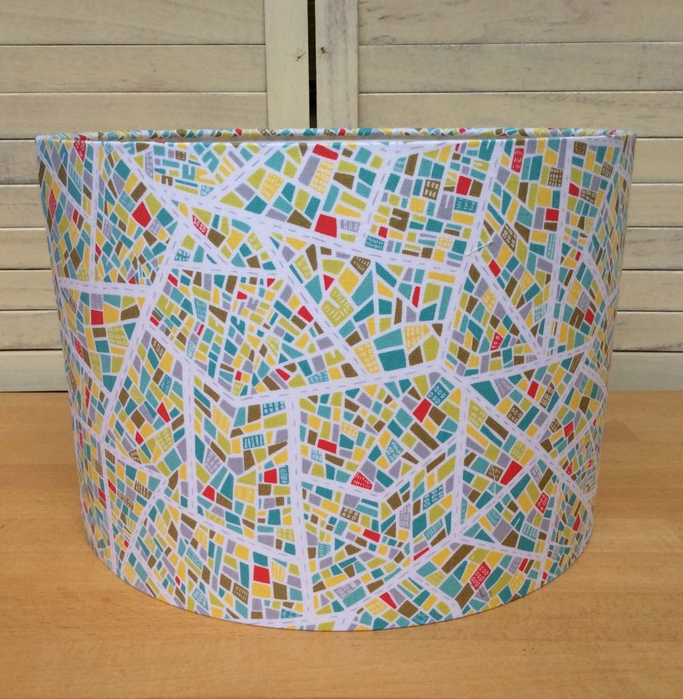 Street Life 30 cms Drum Lampshade