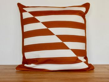Pecan and Putty Quilted Cushion
