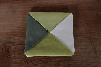 Kona Cotton Folded Fabric Coaster
