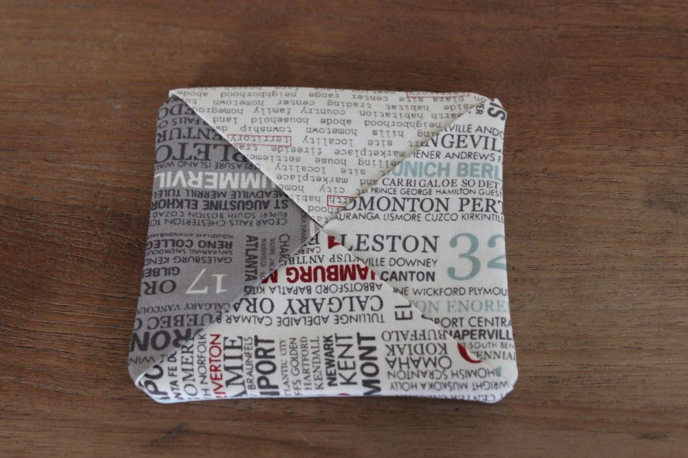 Words Folded Fabric Coaster
