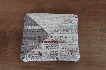 Words Folded Fabric Coaster