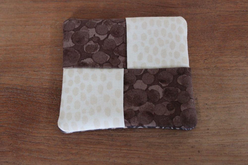 Two Tone Folded Fabric Coaster
