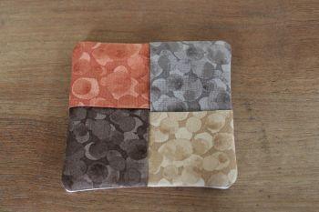 Autumn Tones Folded Fabric Coaster