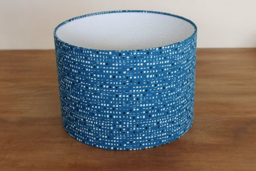 New Horizons (Teal) 30 cms Drum Lampshade