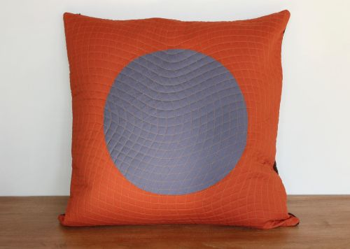 Circles Quilted Envelope Cushion(2)