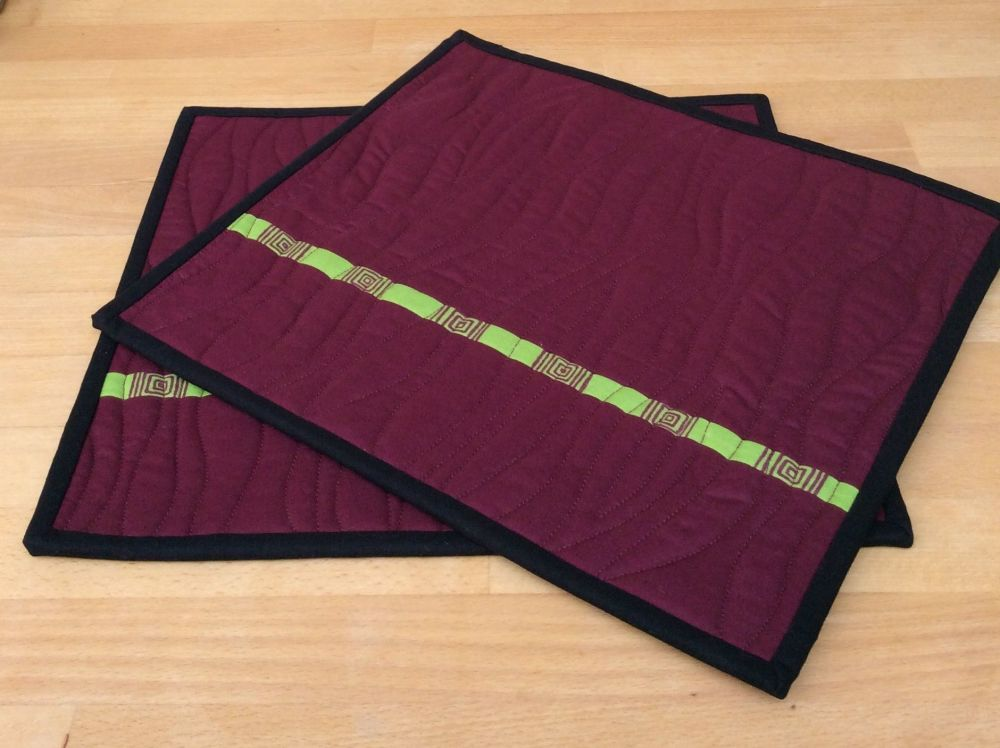 Set of Two Make It Simpler Place Mats (Narrow)