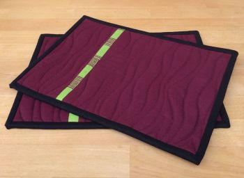 Set of Two Make It Simpler Mug Mats/Coasters (Narrow)