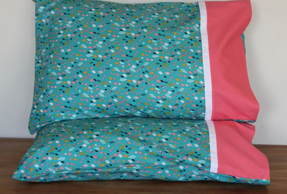 Pair of Boho Meadow Pillow Cases(2)