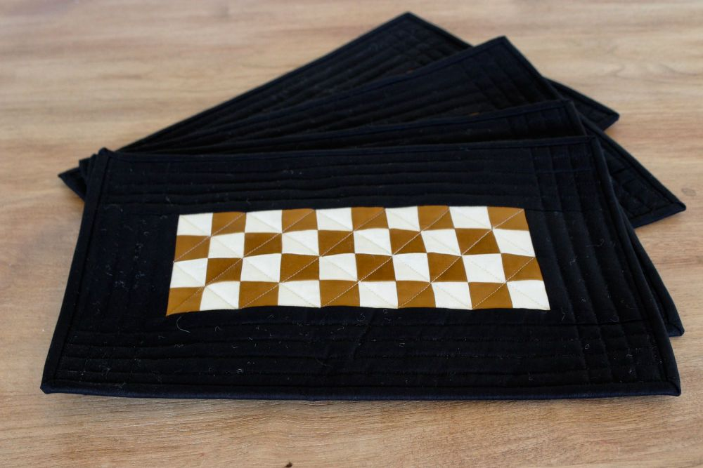 Pecan and Putty Quilted Place Mats