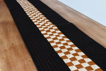 Pecan and Putty Quilted Table Runner