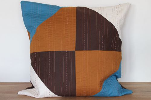 Hand and Machine Quilted Envelope Cushion