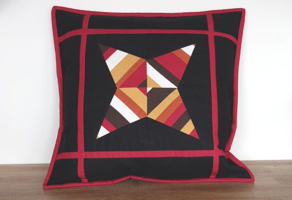 String Star Quilted Cushion (Dark)