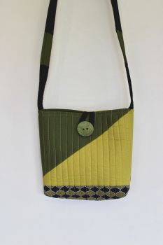 Pickle and Avocado Quilted Cross-Over Bag