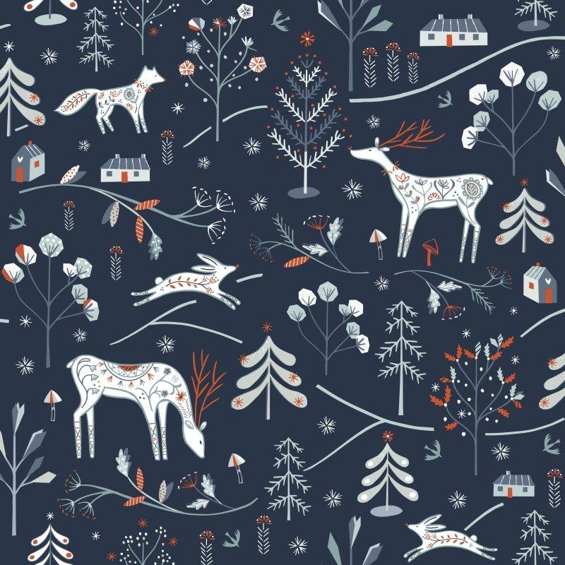 Dashwood Studio - Winterfold - Little Deer - Charcoal