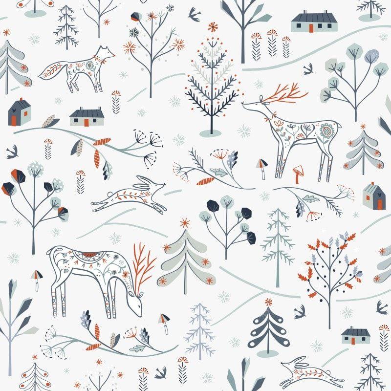 Dashwood Studio - Winterfold - Little Deer - White