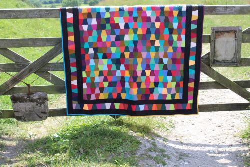 Scrappy Tumbler Block Quilt/Wall Hanging