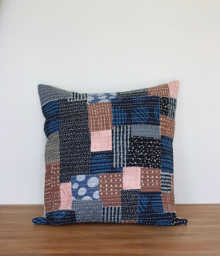Boro Inspired Sashiko Envelope Cushion (2)