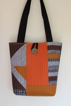 Pen and Ink Quilted Tote Bag