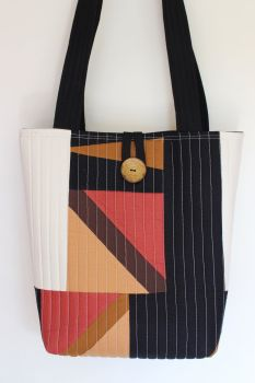Zig Zag Quilted Tote Bag