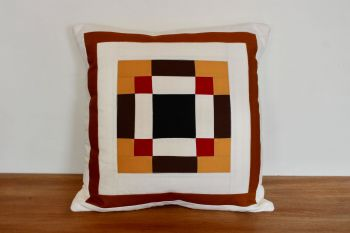 Nine Patch Nonsense Envelope Quilted Cushion (Black)