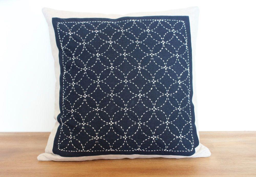 Treasures/Shippo Sashiko Envelope Cushion