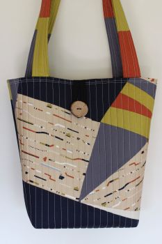 New Horizons Patchwork Tote Bag