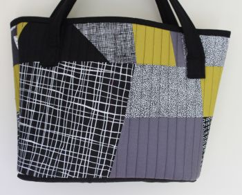 Pen and Ink and Pickle Quilted Shopping Tote Bag(2)
