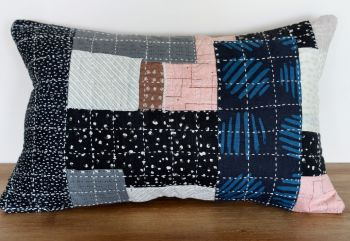 Boro/Sashiko Inspired Small Envelope Cushion (4)